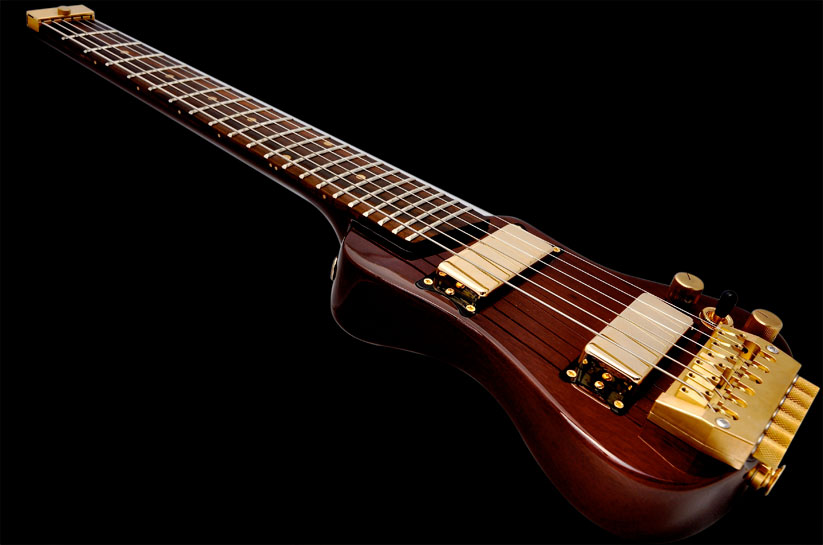 Exotic Wood Guitar Lap Axe
