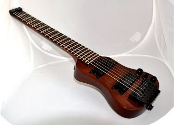 Lap axe™ for travel jamming gigging and practice.