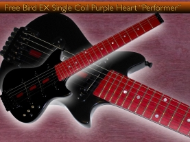 "Free Bird EX Single Coil Purple Heart ""Performer""-1.001"